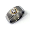 One carat 8mm med 0,60 ct