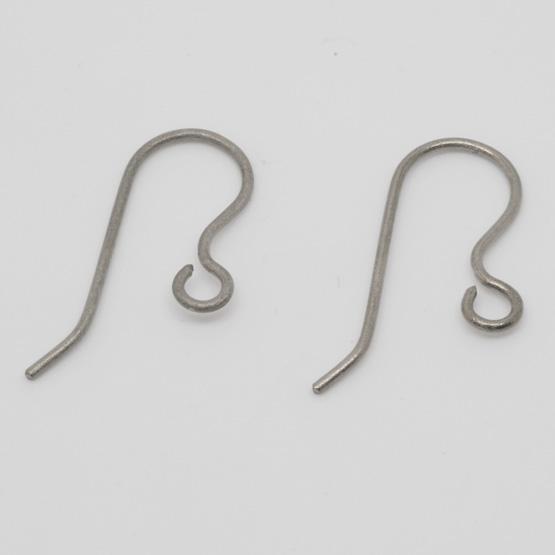 Titanörhänge - Curved 20 mm