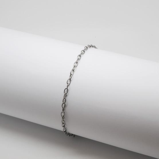Titanarmband - Thin oval