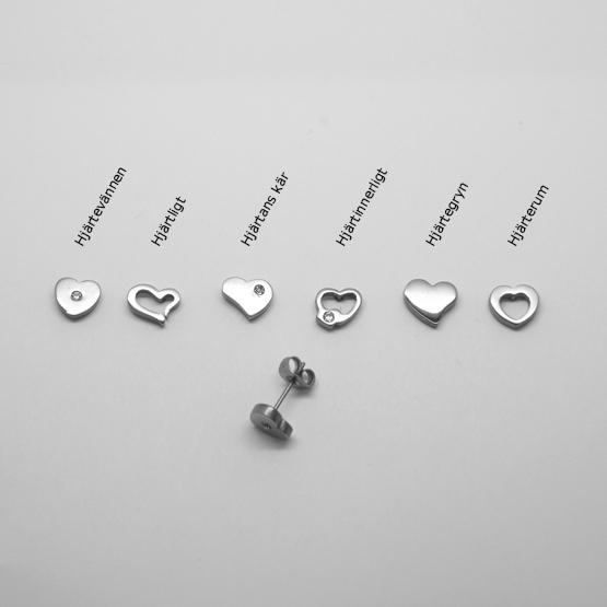 Ear-heart titanörhängen