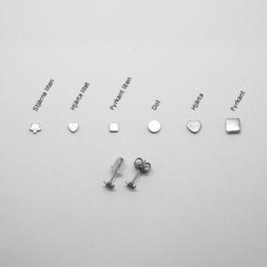 Allergivänliga örhängen i titan
